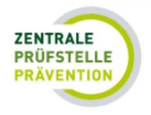 Das Logo dewr Zentrale Pruefstelle für Prävention .