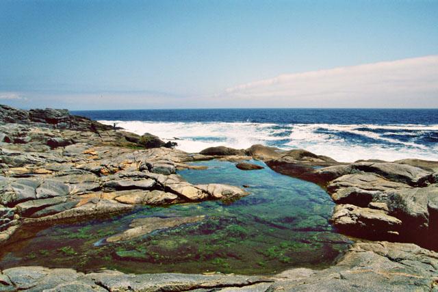Schmetterndes klatschendes Wasser und die ruhige See symbolisieren das Wechelspiel der Kräft im Tongbeiquan