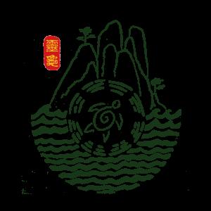 logo ling gui mit Bergen Wasser und Schildkröte