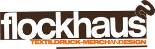 Logo von flockhaus in Göttingen. Textildruck, Mechandise und Design.